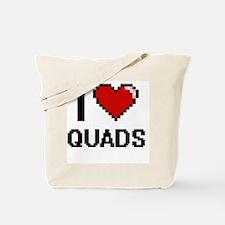 I Love Quads Digital Design Tote Bag