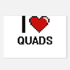 I Love Quads Digital Desi Postcards (Package of 8)