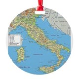 Italy Round Ornament