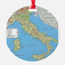 Map of Italy Ornament