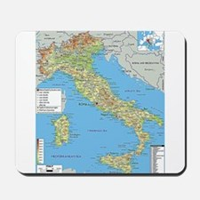 Map of Italy Mousepad