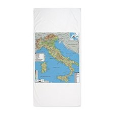 Map of Italy Beach Towel