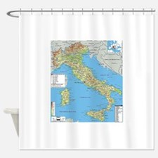 Map of Italy Shower Curtain