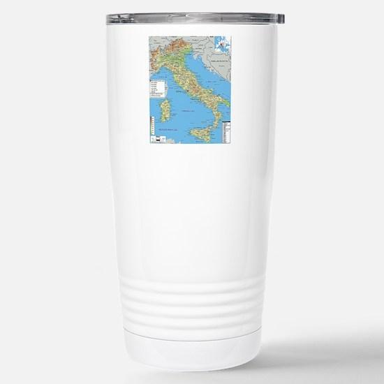 Map of Italy Travel Mug