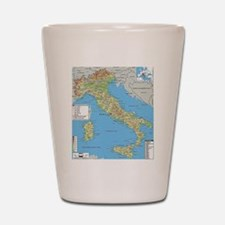 Map of Italy Shot Glass