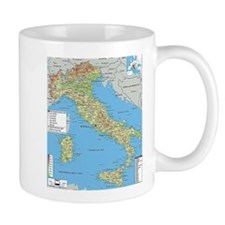 Map of Italy Mugs