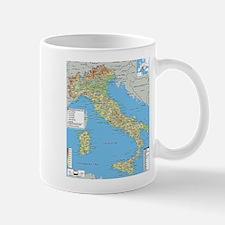 Map of Italy Mugs