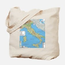 Map of Italy Tote Bag