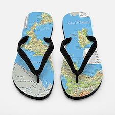 Map of Italy Flip Flops