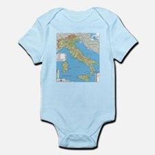 Map of Italy Body Suit