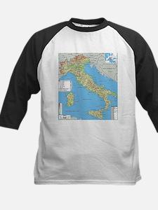 Map of Italy Baseball Jersey