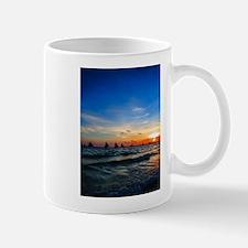 Sailboat Flotilla in Silhouette 4 Mugs