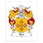 Elio Family Crest Small Poster