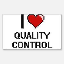 I Love Quality Control Digital Design Decal