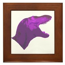 Purple Tyrannosaur Framed Tile