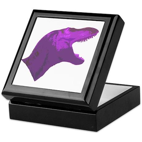 Purple Tyrannosaur Keepsake Box
