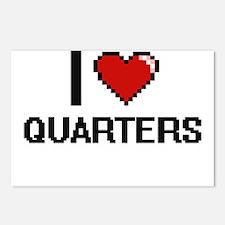 I Love Quarters Digital D Postcards (Package of 8)