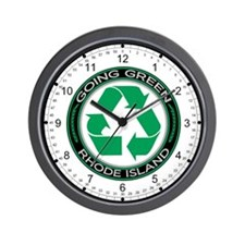 Going Green Rhode Island (Recycle) Wall Clock