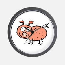HAPPY PIG! Wall Clock