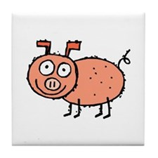 HAPPY PIG! Tile Coaster