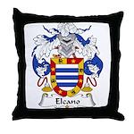 Elcano Family Crest Throw Pillow