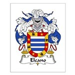 Elcano Family Crest Small Poster