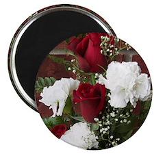 Rose Carnation Bouquet Magnet