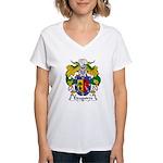 Eizaguirre Family Crest Women's V-Neck T-Shirt