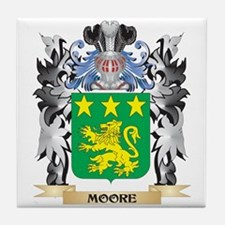 Moore Coat of Arms - Family Crest Tile Coaster