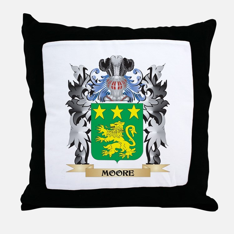 Moore Coat of Arms - Family Crest Throw Pillow