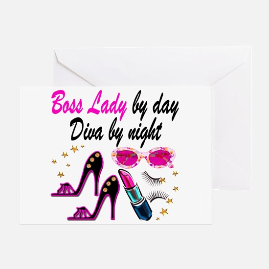 BOSS LADY Greeting Card