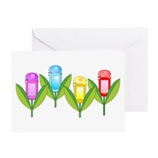 GPS Flowers Greeting Card