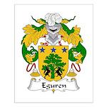 Eguren Family Crest Small Poster