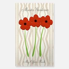 Cute Mom Gardener Flower Sticker (Rectangle)