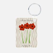 Cute Mom Gardener Flower Keychains