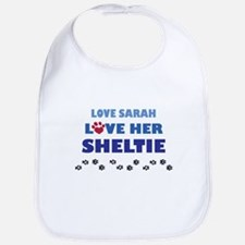Love Sarah Love Her Sheltie Bib
