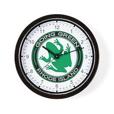 Going Green Rhode Island (Frog) Wall Clock