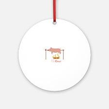 Pig Roast Round Ornament