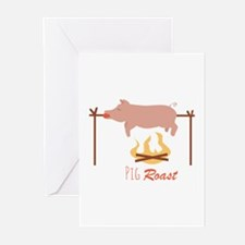 Pig Roast Greeting Cards