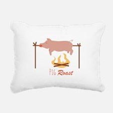 Pig Roast Rectangular Canvas Pillow