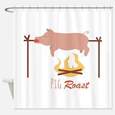 Pig Roast Shower Curtain