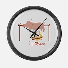 Pig Roast Large Wall Clock