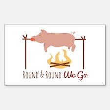 Round We Go Decal