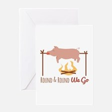 Round We Go Greeting Cards