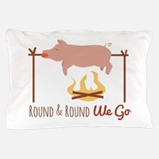 Round We Go Pillow Case