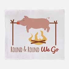 Round We Go Throw Blanket