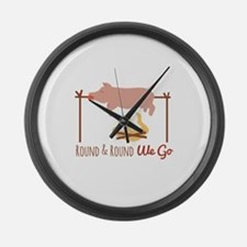 Round We Go Large Wall Clock