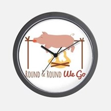 Round We Go Wall Clock