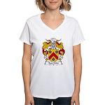 Egerbide Family Crest Women's V-Neck T-Shirt