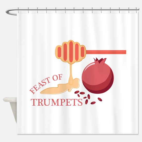 Feast Of Trumpets Shower Curtain